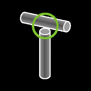 T-Verbindung (2 Rohre)