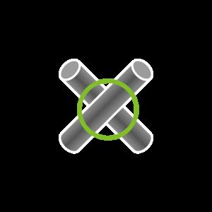 Kreuz-Verbindung (2 Rohre)