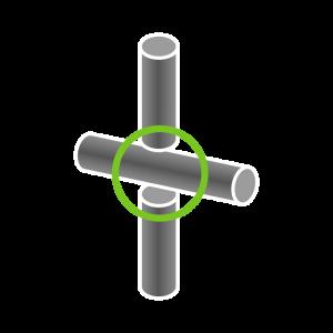X-Verbindung (3 Rohre)