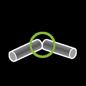 Eck-Verbindung (2 Rohre)